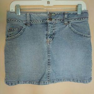 Jordache 5/6 Denim Mini Skirt